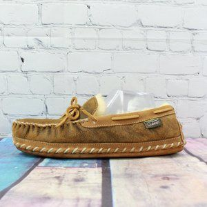LL BEAN Wicked Good Moccasins Sheepskin Size 10 M